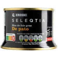 Bloc de pato 98 % Eroski SELEQTIA, lata 130 g