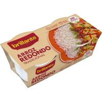 Vasitos de arroz redondo BRILLANTE, pack 2x125 g