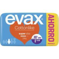 Compresa super con alas EVAX Cottonlike, paquete 24 unid.
