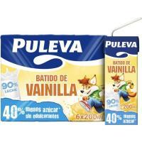 Batido de vainilla PULEVA, pack 6x200 ml