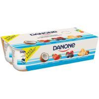 Yogur de fresa-coco-frutas del bosque DANONE, pack 8x125 g