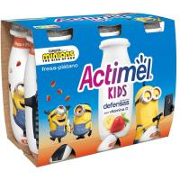 Actimel para beber de fresa-plátano DANONE, pack 6x100 ml