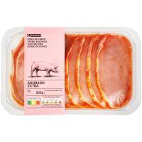 Filetes de lomo de cerdo adobado EROSKI, bandeja 500 g