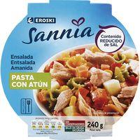 Ensalada de pasta con atún EROSKI Sannia, bol 240 g