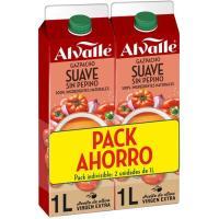 Gazpacho suave ALVALLE, pack 2x1 litro