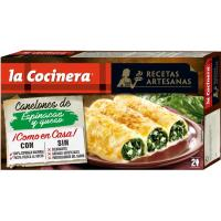 Canelones de espinaca-queso LA COCINERA, caja 530 g