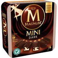 Bombón Mini de chocolate negro MAGNUM, 6 unid., caja 360 ml