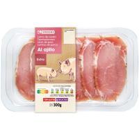 Lomo de cerdo al ajillo fileteado EROSKI , bandeja 300 g