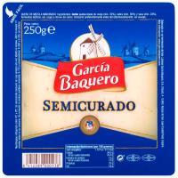 Queso semicurado GARCÍA BAQUERO, cuña 250 g