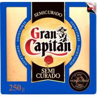 Queso semicurado GRAN CAPITÁN, cuña 250 g