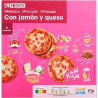 Piccinis de jamón-queso EROSKI, caja 270 g