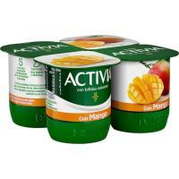 Activia con mango DANONE, pack 4x125 g