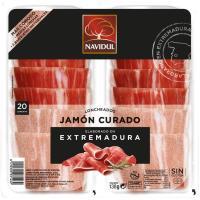 Jamón curado NAVIDUL, pack 2x80 g