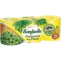 Guisante al natural muy fino BONDUELLE, pack 3x140 g
