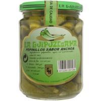 Pepinillos sabor anchoa LA GUIPUZKOANA, frasco 200 g