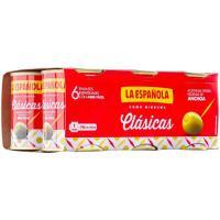 Aceitunas rellenas LA ESPAÑOLA, pack 6x50 g