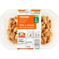 Cacahuetes fritos EROSKI, tarrina 200 g