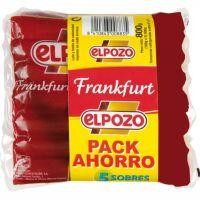 Salchicha Frankfurt EL POZO, pack 5x160 g