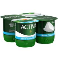 Activia 0% natural edulcorado DANONE, pack 4x125 g
