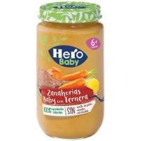 Tarrito de ternera con zanahorias HERO, tarro 235 g