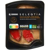 Pimientos rellenos de carne Eroski SELEQTIA, bandeja 300 g