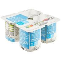 Yogur natural cremoso edulcorado 0% EROSKI, pack 4x125 g
