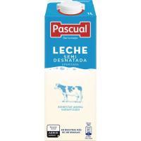 Leche Semidesnatada PASCUAL, brik 1 litro