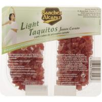 Taquitos de jamón light SANCHEZ ALCARAZ, pack 2x50 g
