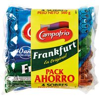 Salchichas Frankfurt CAMPOFRÍO, pack 4x140 g