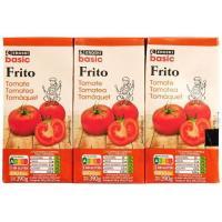 Tomate frito EROSKI basic, pack 3x390 g