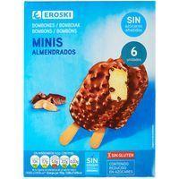 Mini bombón de almendras sin azúcar EROSKI, pack 6x50 ml