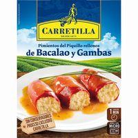 Pimientos de bacalao-gambas CARRETILLA, bandeja 280 g