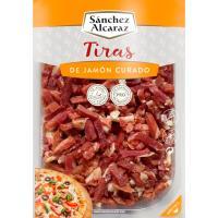 Tiras de jamón curado SANCHEZ ALCARAZ, tarrina 150 g