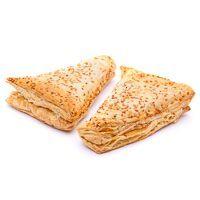 Triangulo hojaldrado de jamón-queso EROSKI, bandeja 395 g
