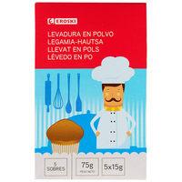 Levadura EROSKI, paquete 75 g