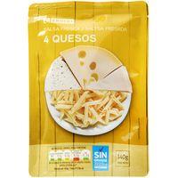 Salsa fresca 4 quesos EROSKI, bolsa 140 g
