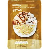 Salsa fresca de setas EROSKI, bolsa 140 g