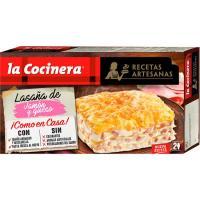 Lasaña de jamón-queso LA COCINERA, caja 530 g