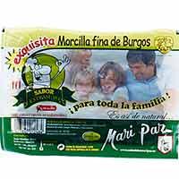 Morcilla fina de Burgos MARI PAZ, sobre 220 g