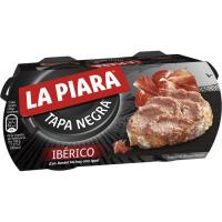 Paté ibérico LA PIARA Tapa Negra, pack 2x73 g