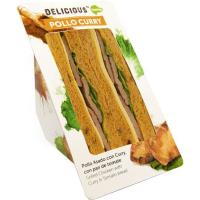 Sandwich de pollo al curry ÑAMING, 1 unid., 160 g
