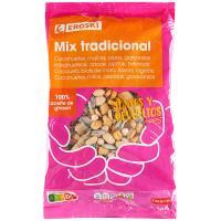 Mezcla de frutos secos tradicional EROSKI, bolsa 500 g