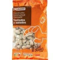 Cacahuetes con cáscara tostados con sal EROSKI, bolsa 400 g