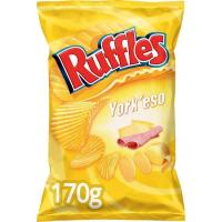 Patatas fritas onduladas York`Queso RUFFLES, bolsa 170 g