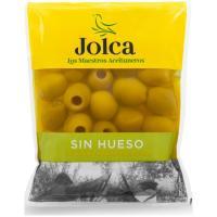 Aceitunas sabor manzanilla sin hueso JOLCA, bolsa 75 g
