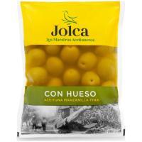 Aceitunas sabor manzanilla con hueso JOLCA, bolsa 100 g