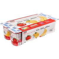 Yogur sabores fresa, limón y plátano