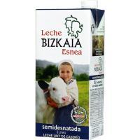 Leche Semidesnatada BIZKAIA ESNEA, brik 1 litro