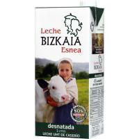 Leche Desnatada BIZKAIA ESNEA, brik 1 litro