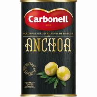 Aceitunas rellenas CARBONELL, lata 150 g